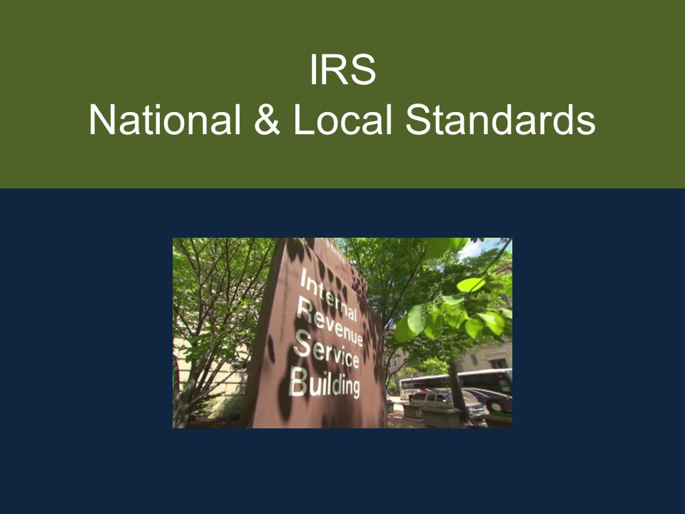 IRS National & Local Standards