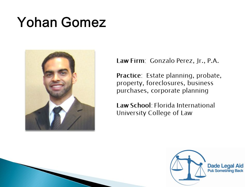 Yohan Gomez Law Firm: Gonzalo Perez, Jr., P.A.