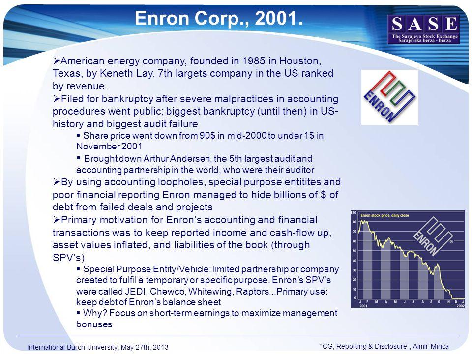 Enron Corp., 2001.