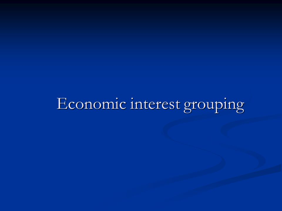 Economic interest grouping