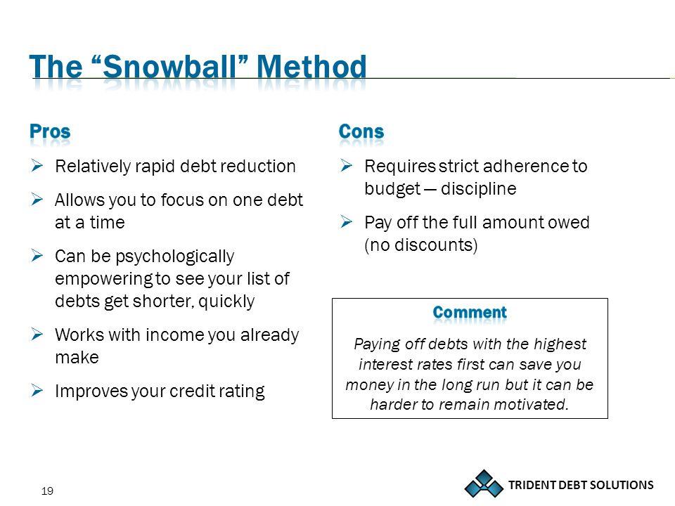 TRIDENT DEBT SOLUTIONS 19