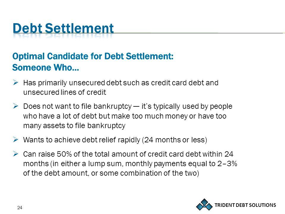 TRIDENT DEBT SOLUTIONS 24