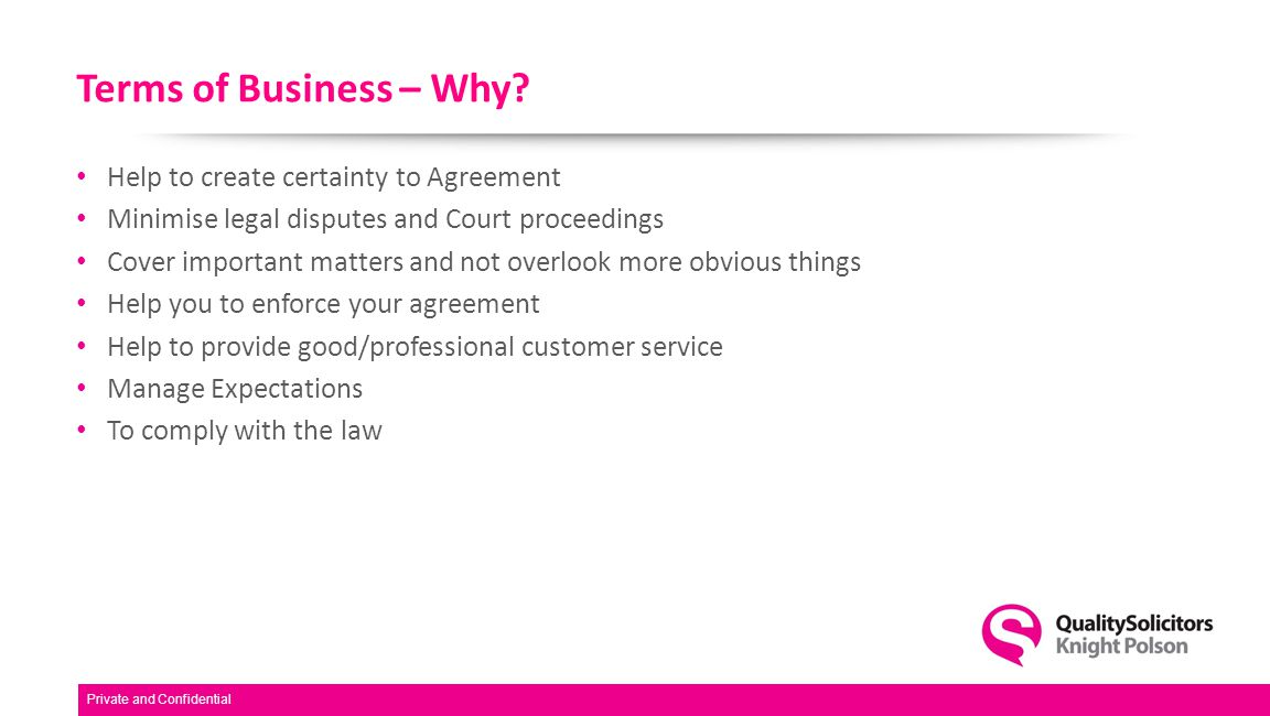 Terms of Business – Why.