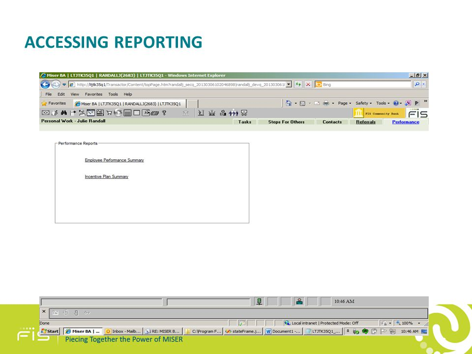 ACCESSING REPORTING 42