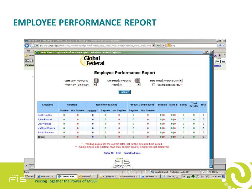 EMPLOYEE PERFORMANCE REPORT 43