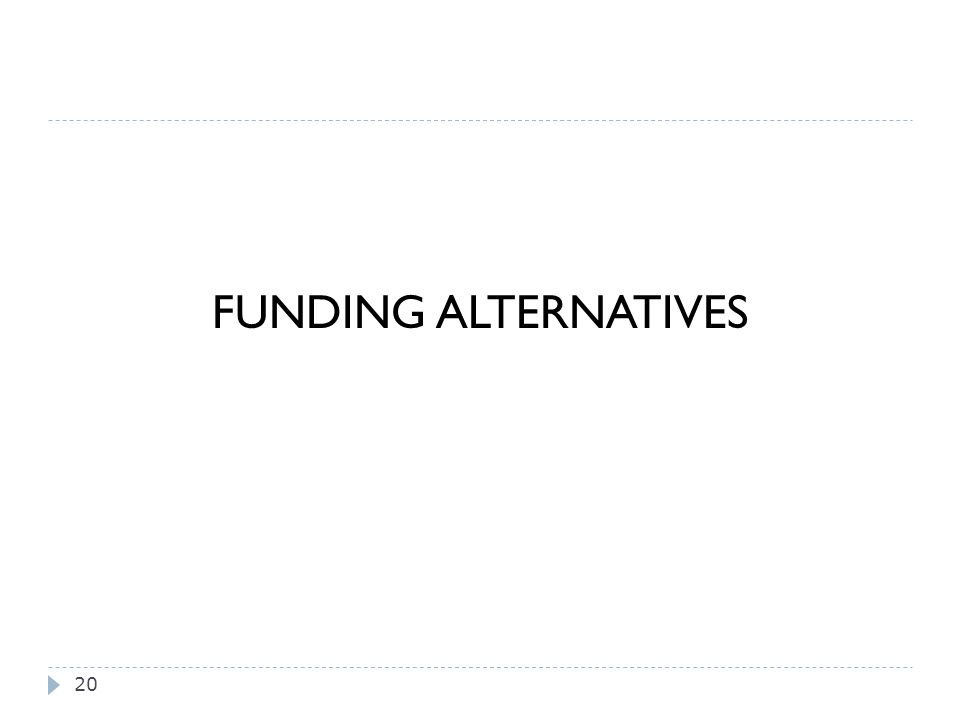 FUNDING ALTERNATIVES 20