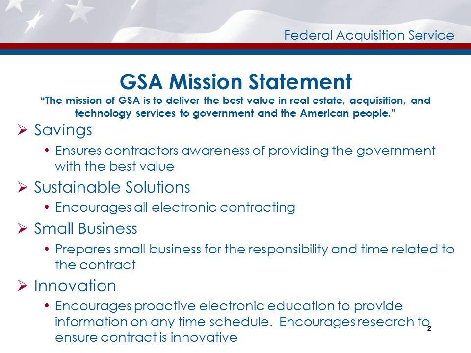 Federal Acquisition Service Pre-Award Post Award