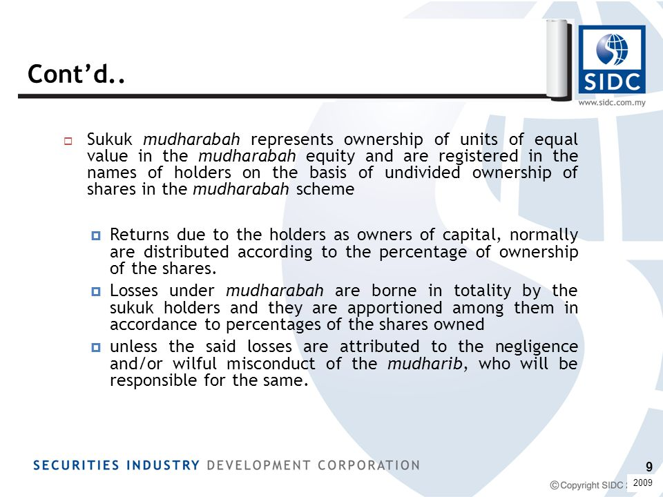 1.Nucleus' issuance of the Sukuk Musharakah and investments by the investors were simultaneously conducted.
