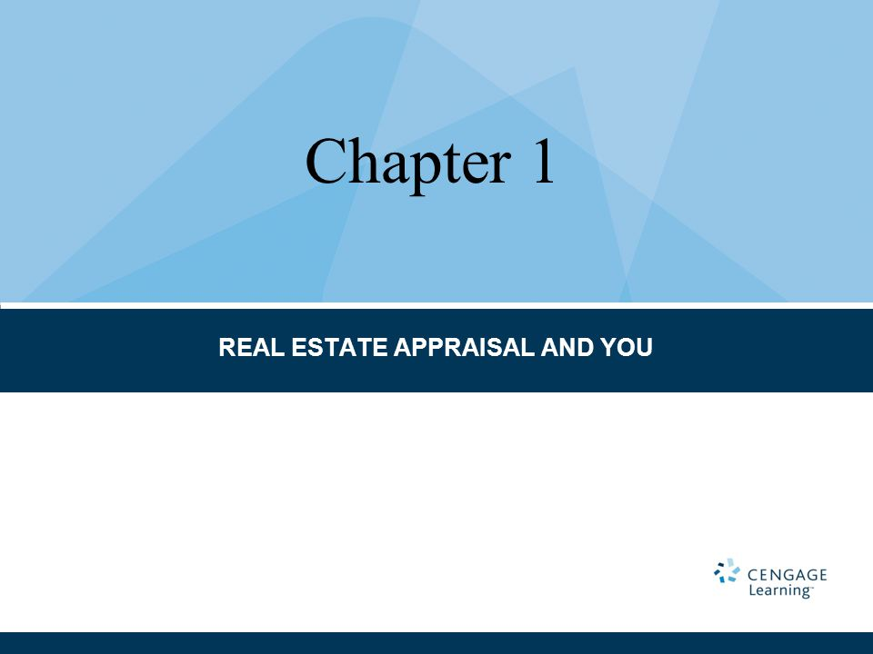 REAL ESTATE APPRAISAL AND YOU Chapter 1