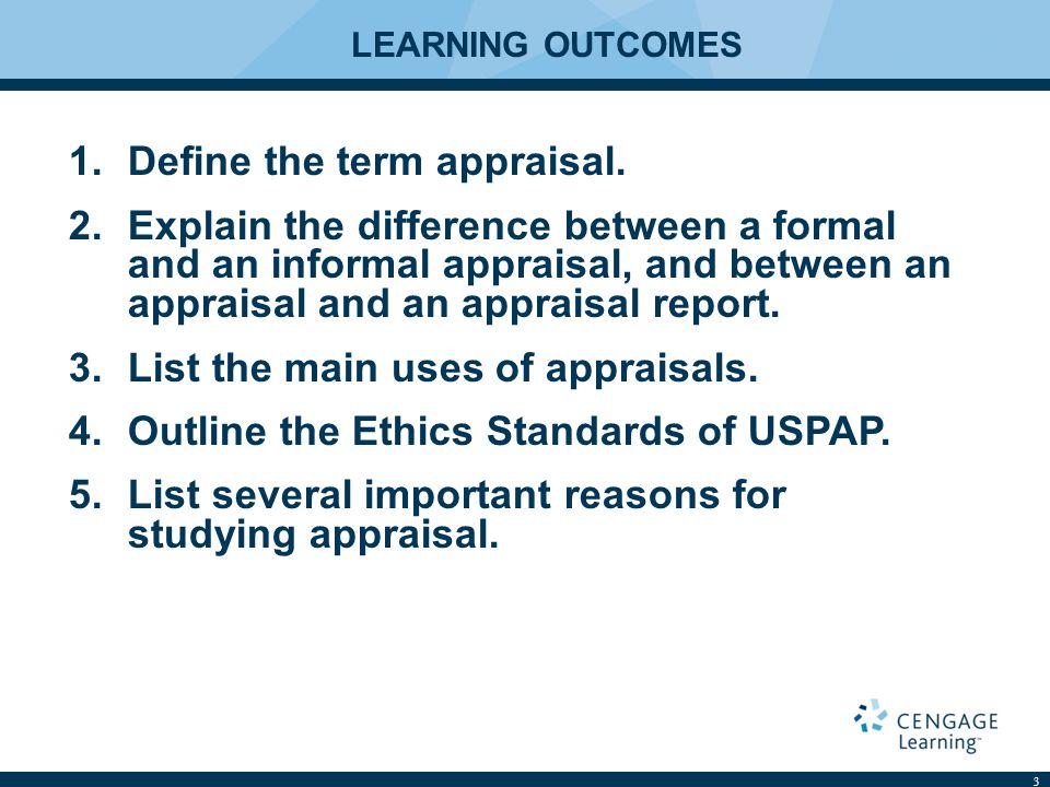 SUMMARY 24 This chapter stressed that an appraisal is simply an opinion of value.