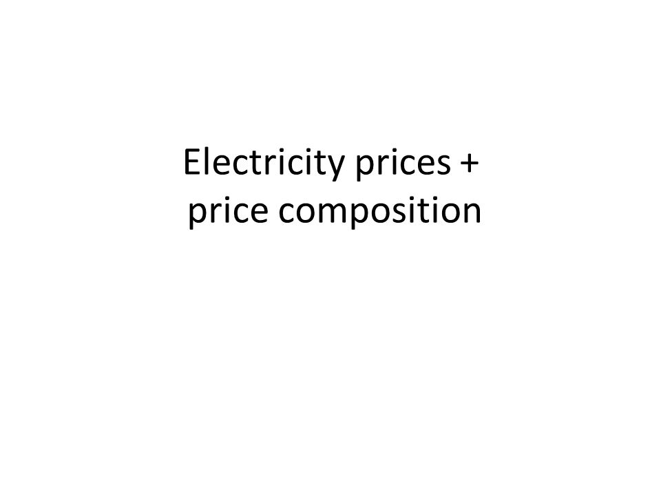 Electricity prices + price composition
