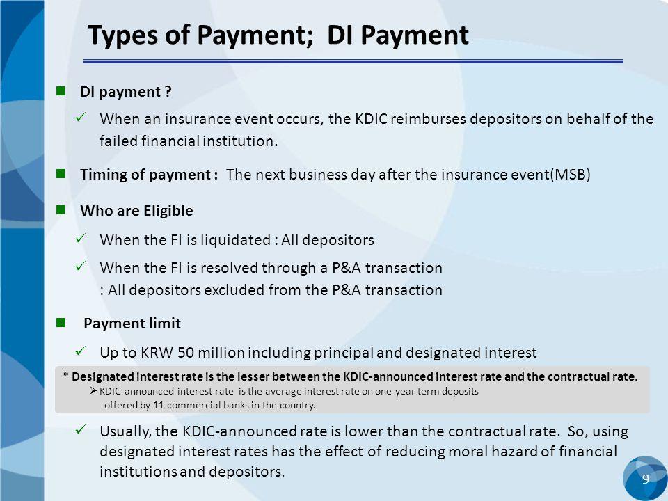 9 Types of Payment; DI Payment DI payment .