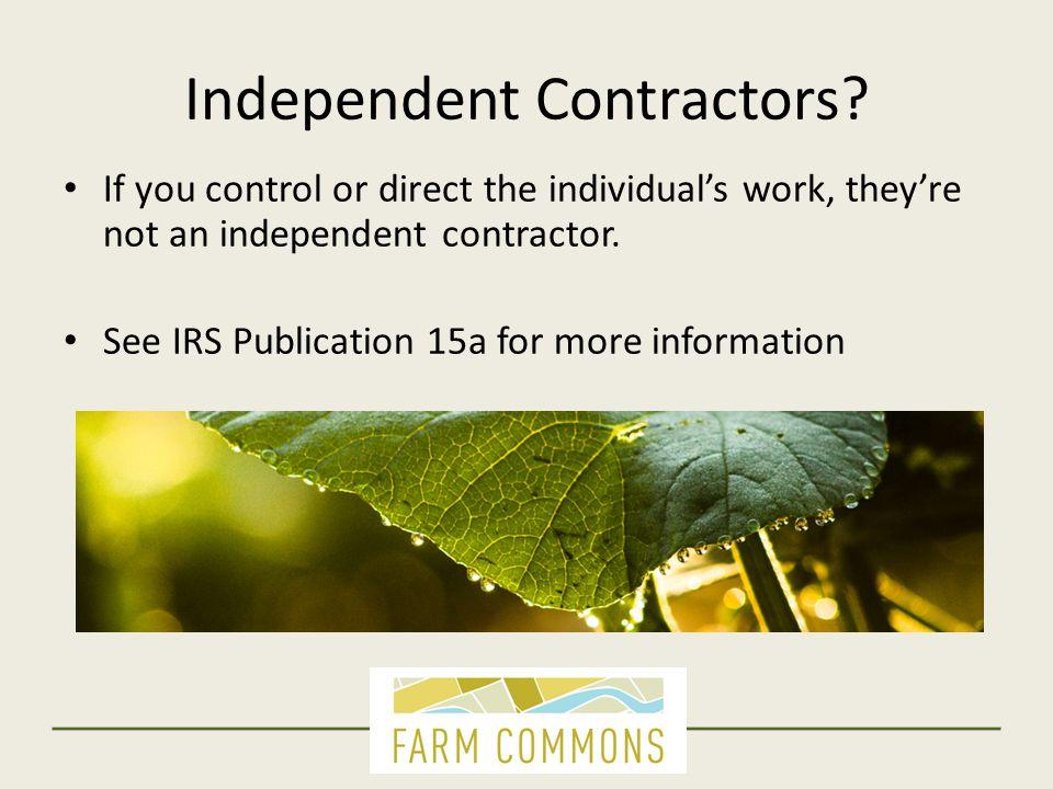 Independent Contractors.