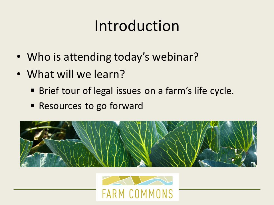 Introduction Who is attending today's webinar. What will we learn.