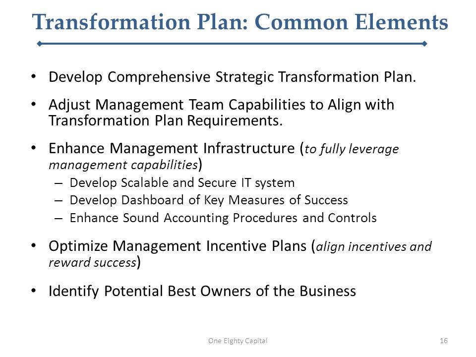 Develop Comprehensive Strategic Transformation Plan.