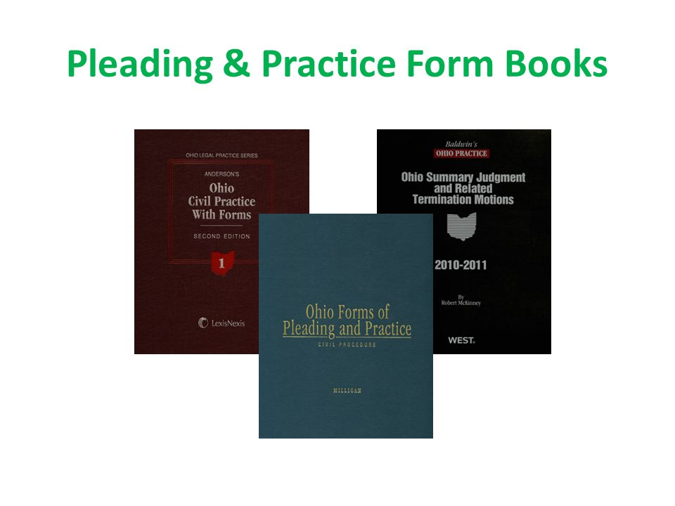 Pleading & Practice Form Books