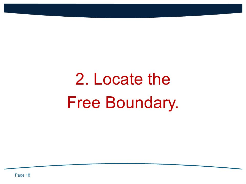 Page 18 2. Locate the Free Boundary.
