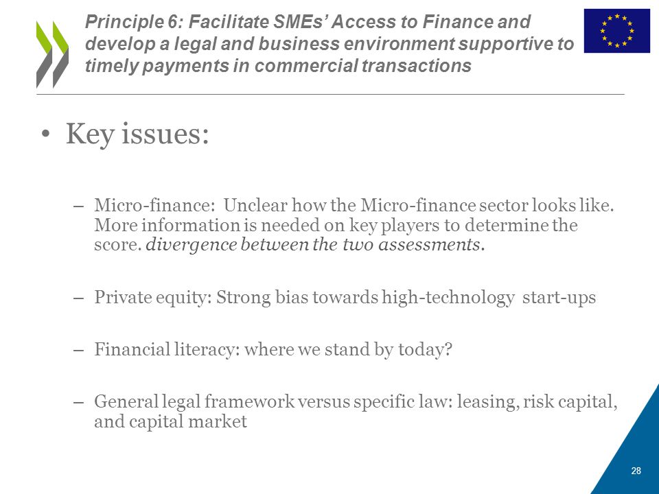 Key issues: – Micro-finance: Unclear how the Micro-finance sector looks like. More information is needed on key players to determine the score. diverg