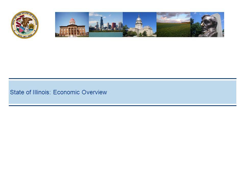 7 Breadth and Depth of Illinois' Economy Economy 1  GDP: $670.7 billion  5th largest economy in U.S.