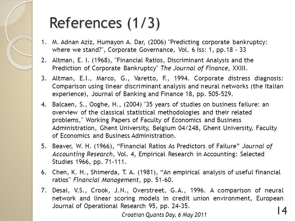 References (1/3) 1.M. Adnan Aziz, Humayon A.