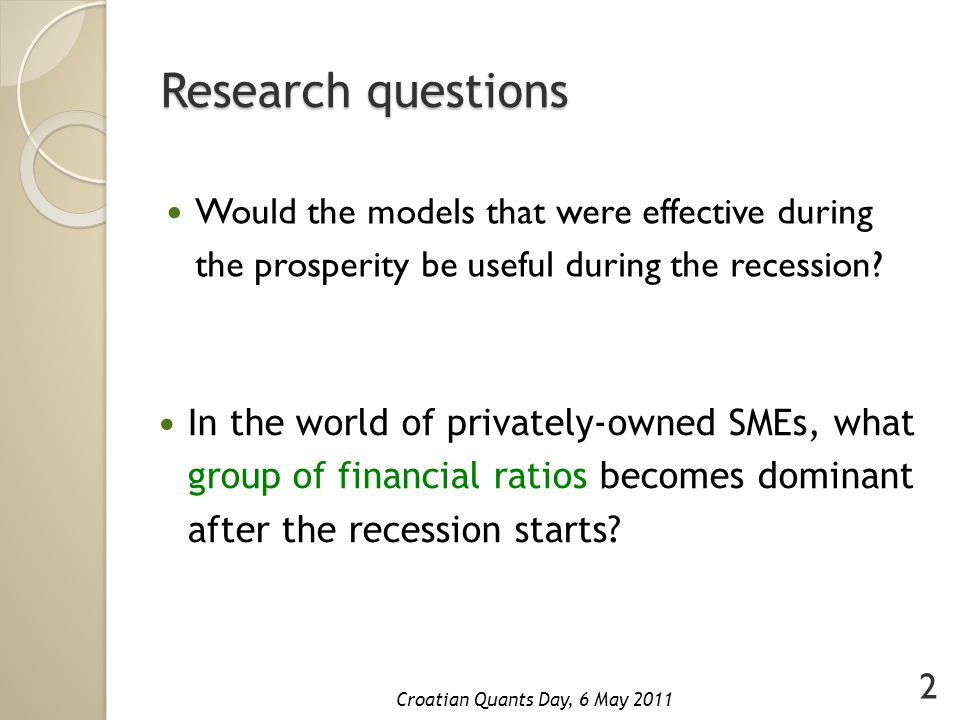 Thank you for your attention.Croatian Quants Day, 6 May 2011 Questions.