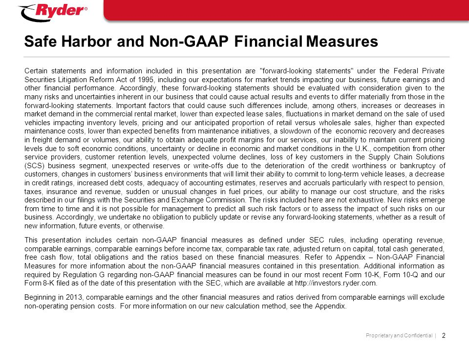 Proprietary and Confidential | Debt to Equity Reconciliation 23 Appendix: Non-GAAP Financial Measures Note: In connection with adopting FIN 46 effective July 1, 2003, the Company consolidated the vehicle securitization trusts previously disclosed as off-balance sheet debt.