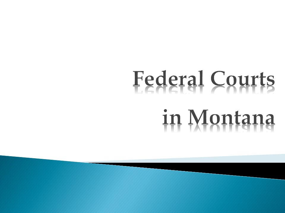 Montana consists of one judicial district, established as such by Congress in 1889 and not changed since.