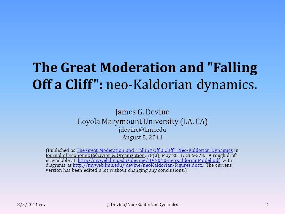(III.A) A Mild Recession. J. Devine/Neo-Kaldorian Dynamics238/5/2011 rev. figure 5