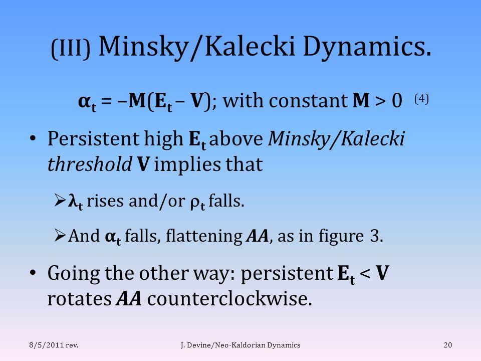 (III) Minsky/Kalecki Dynamics.