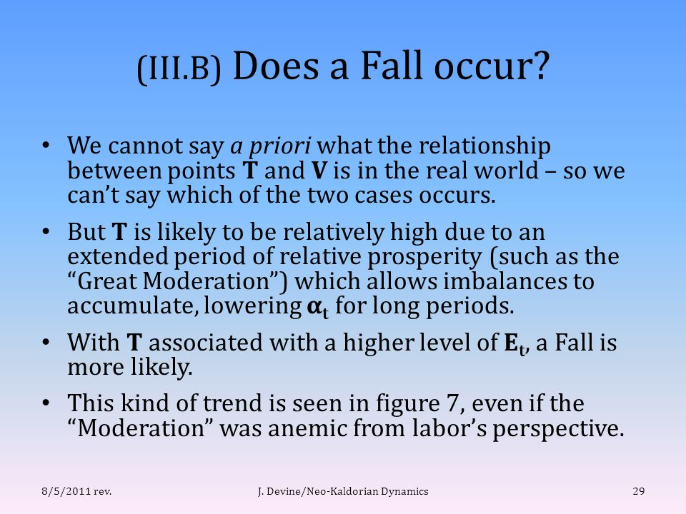 (III.B) Does a Fall occur.