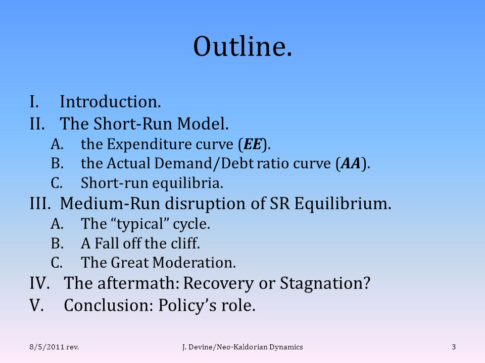 (III.A) Mild Recession & Cycle.