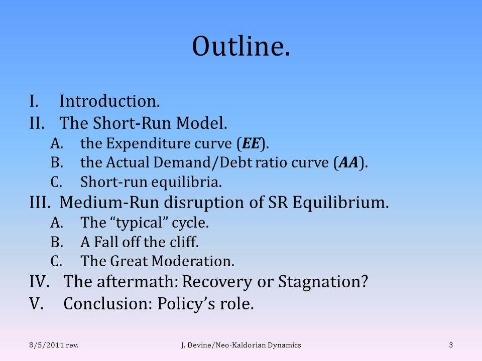 (II.B) Short run: movement along AA curve.