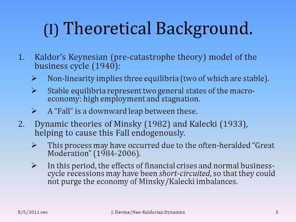 (I) Theoretical Background.