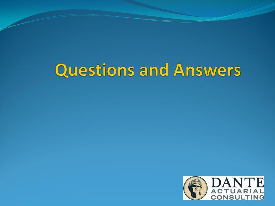 John Dante, FSA, MAAA, FCA President and CEO Dante Actuarial Consulting, LLC E-mail: johndante@danteactuarial.com Phone: 570-417-9039