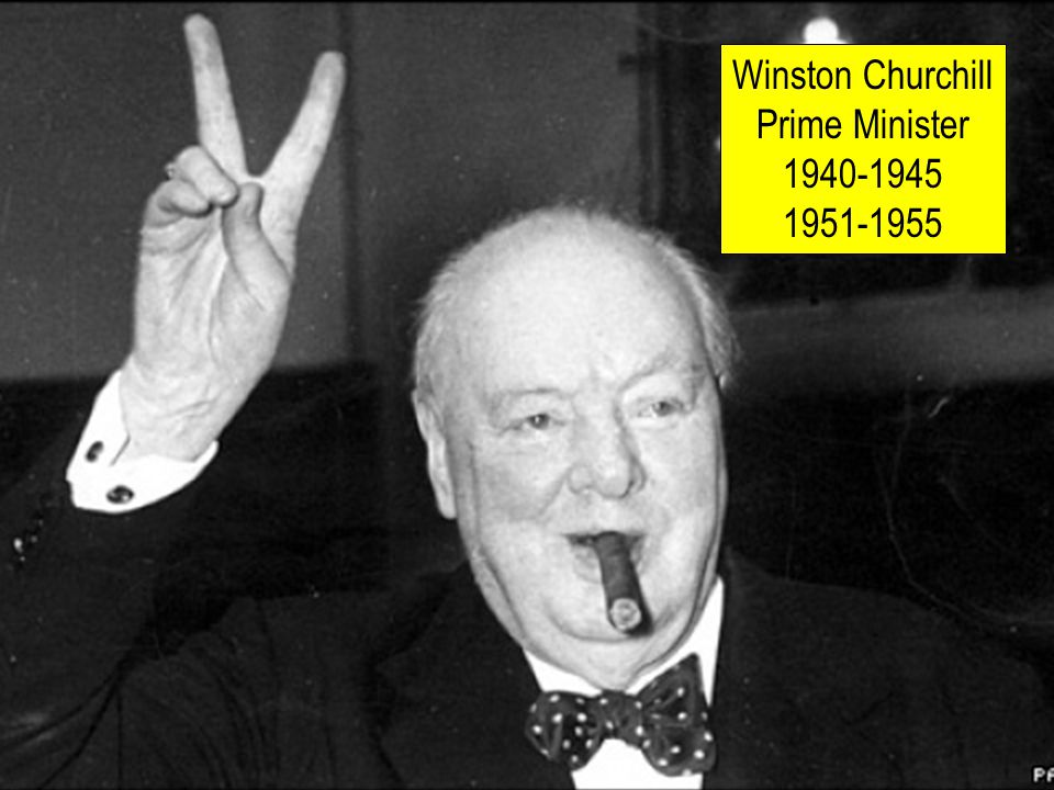 Winston Churchill Prime Minister 1940-1945 1951-1955