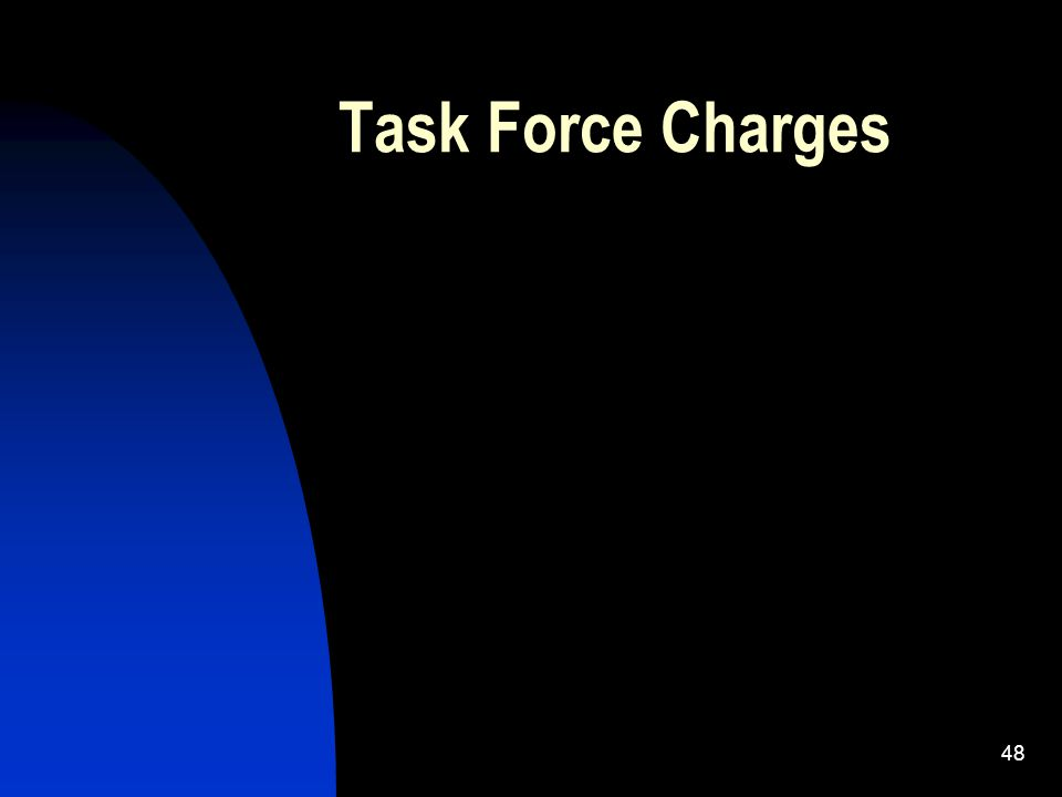 48 Task Force Charges