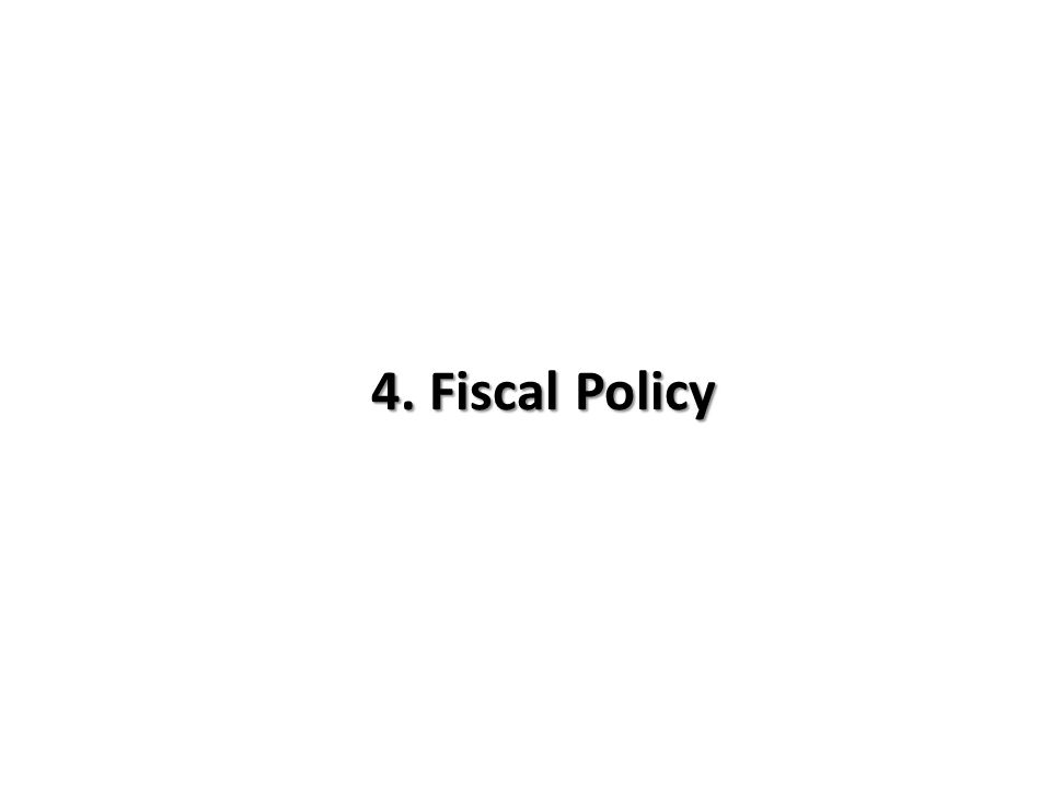 4. Fiscal Policy