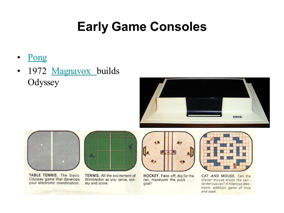 Early Game Consoles Pong 1972 Magnavox builds OdysseyMagnavox