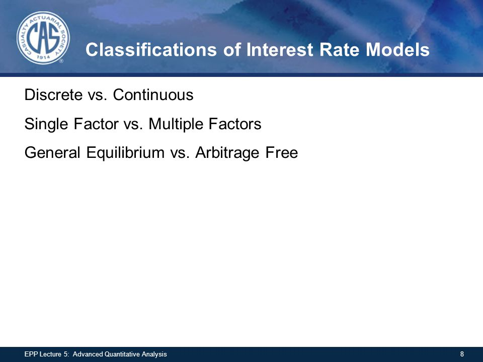 Determinants of Call Value Value must be positive Increasing maturity increases value Increasing exercise price, decreases value American call value must be at least the value of European call Value must be at least intrinsic value For non-dividend paying stock, value exceeds S-PV(X) –Can be seen by assuming European style call 29EPP Lecture 5: Advanced Quantitative Analysis