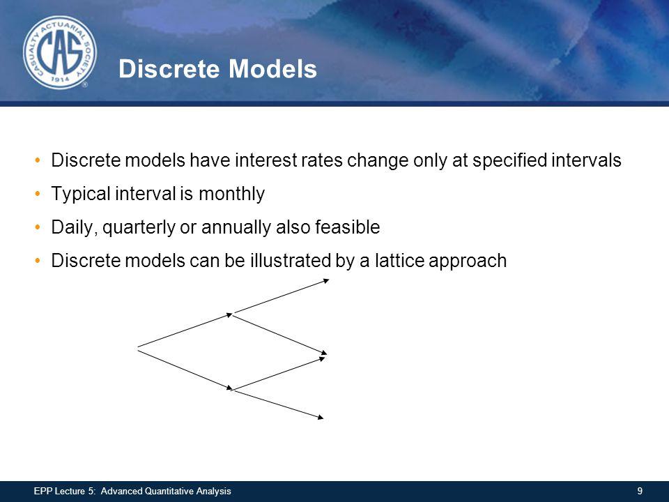 Dependency Structure Comparison - 2 20EPP Lecture 5: Advanced Quantitative Analysis Frank Copula Clayton Copula Frank parameter = 3.7 Clayton parameter 1.0