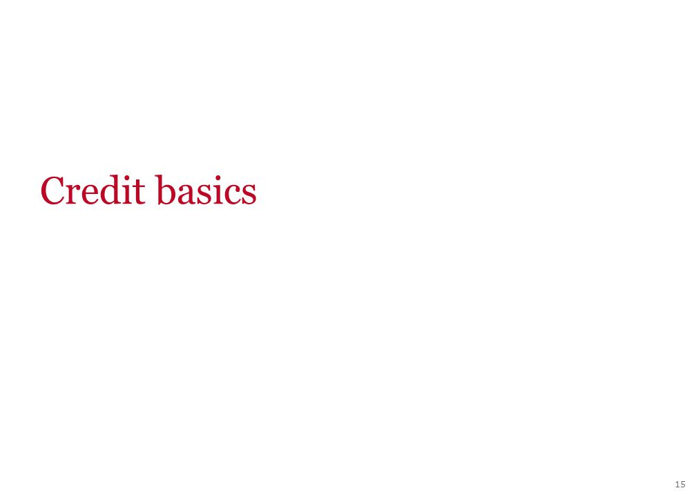 15 Credit basics