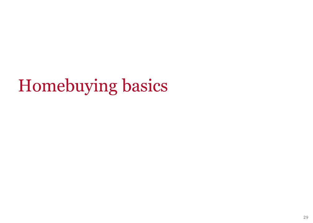 29 Homebuying basics