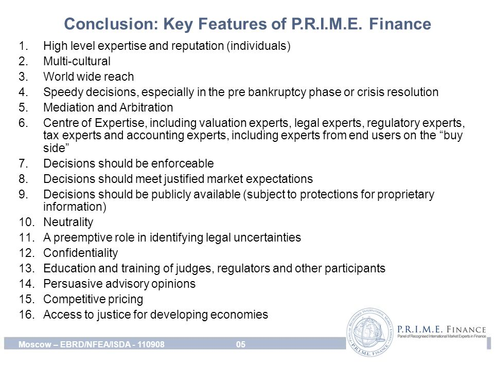 Conclusion: Key Features of P.R.I.M.E.