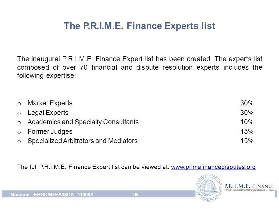 The P.R.I.M.E. Finance Experts list The inaugural P.R.I.M.E.