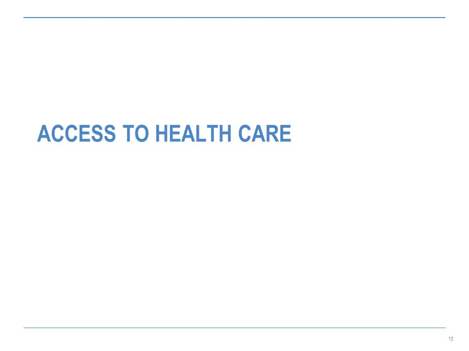 10 ACCESS TO HEALTH CARE
