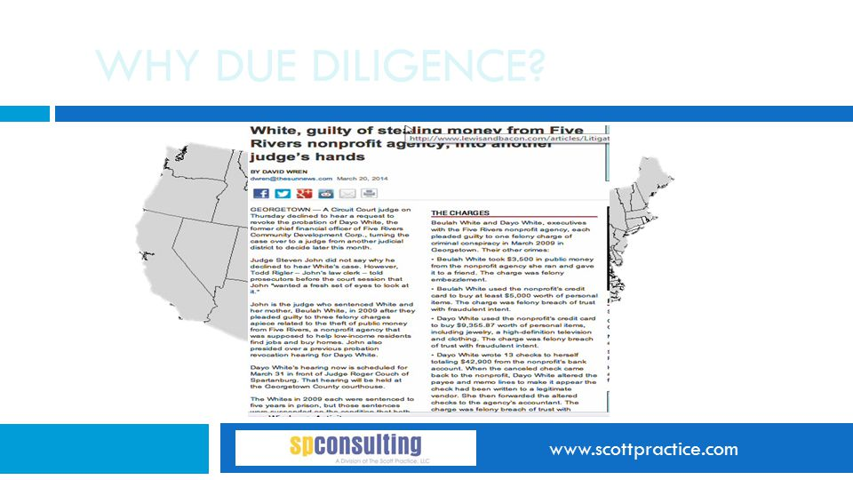 www.scottpractice.com WHY DUE DILIGENCE