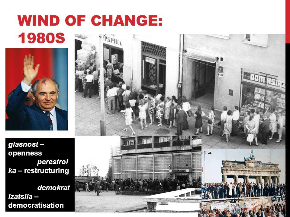 www.monash.edu WIND OF CHANGE: 1980S 6 glasnost – openness perestroi ka – restructuring demokrat izatsiia – democratisation