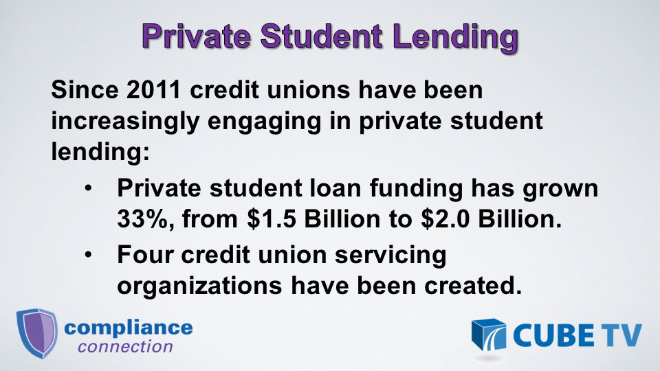 The complexity of student loans includes: Long-term maturities with unique repayment structures; Deferment periods; and Origination as a line of credit while the member is a student and convert to a closed-end loan once schooling is completed.