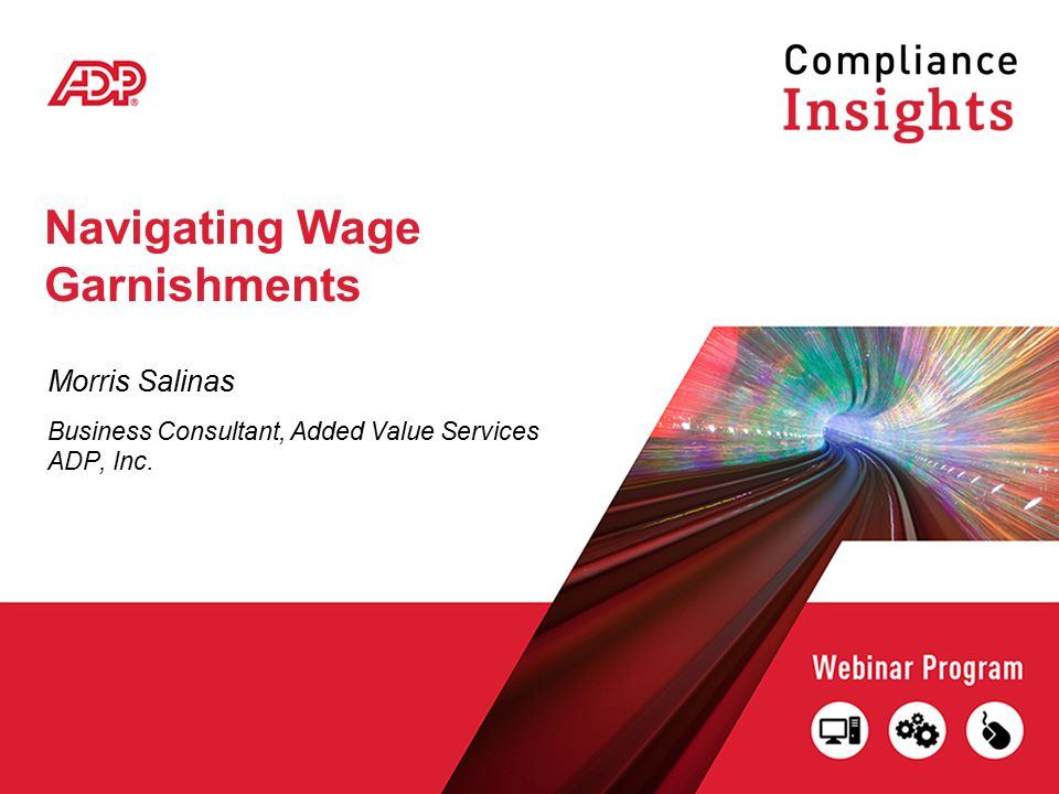 Navigating Wage Garnishments Morris Salinas Business Consultant, Added Value Services ADP, Inc.