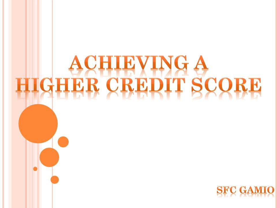 Available Credit Maintaining low balances on credit cards and open lines-of-credit will be a positive factor in generating a score.